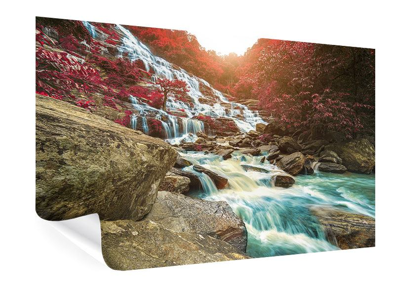 Poster Exotischer Wasserfall
