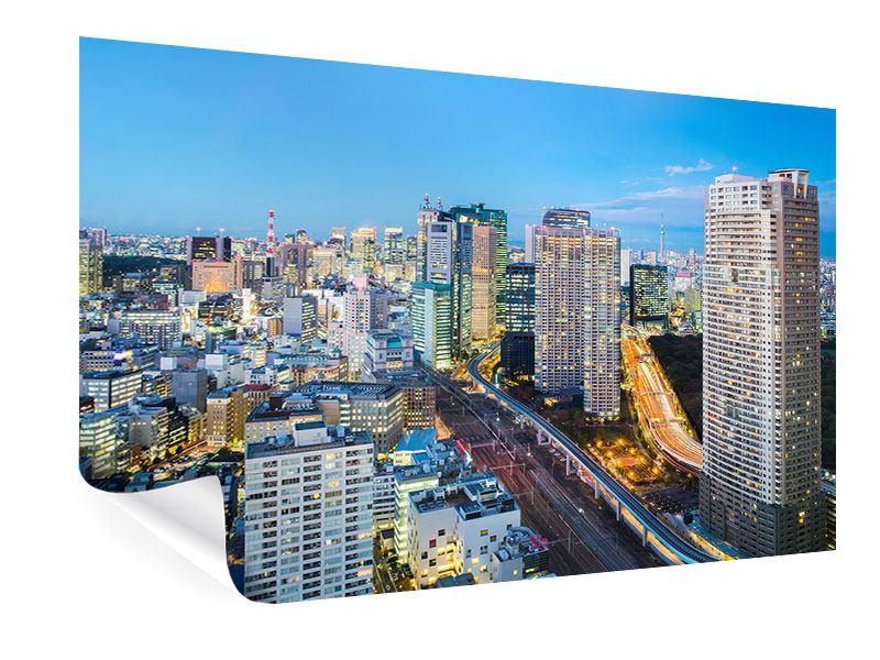 Poster Skyline Tokio im Lichtermeer