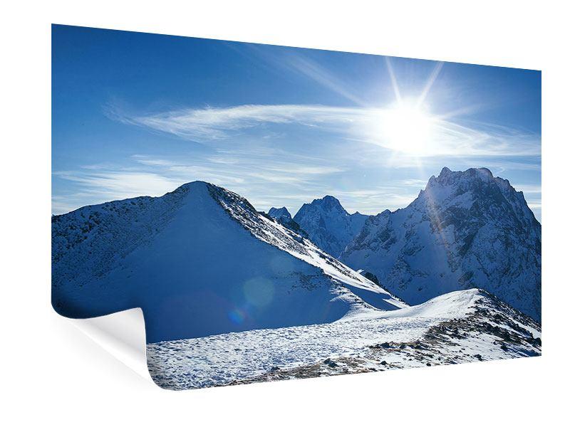 Poster Der Berg im Schnee