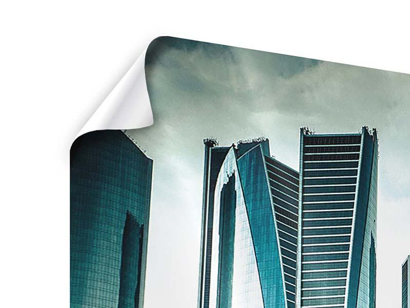 Poster Luxus Wolkenkratzer in Abu Dhabi