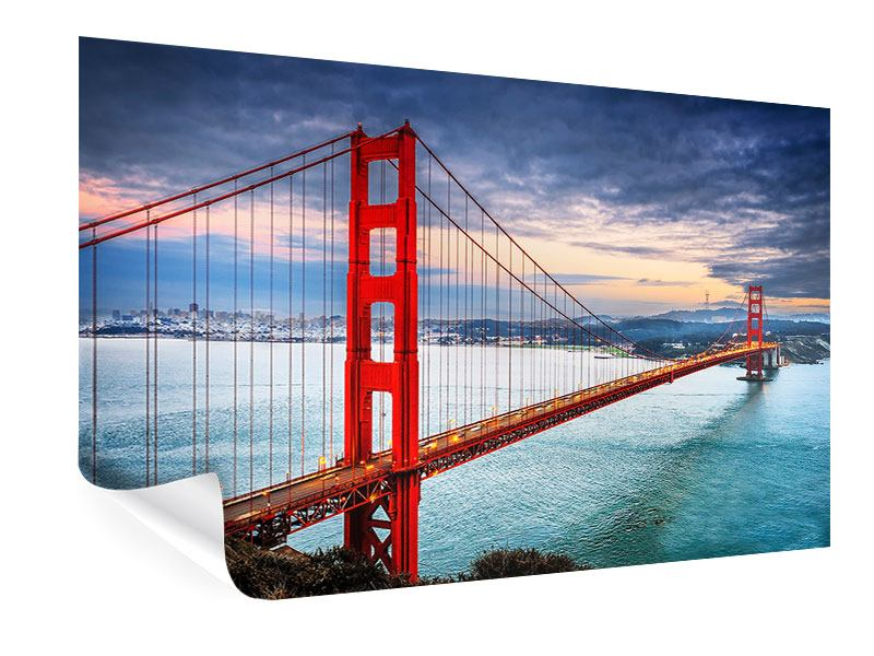 Poster Der Golden Gate Bridge bei Sonnenuntergang