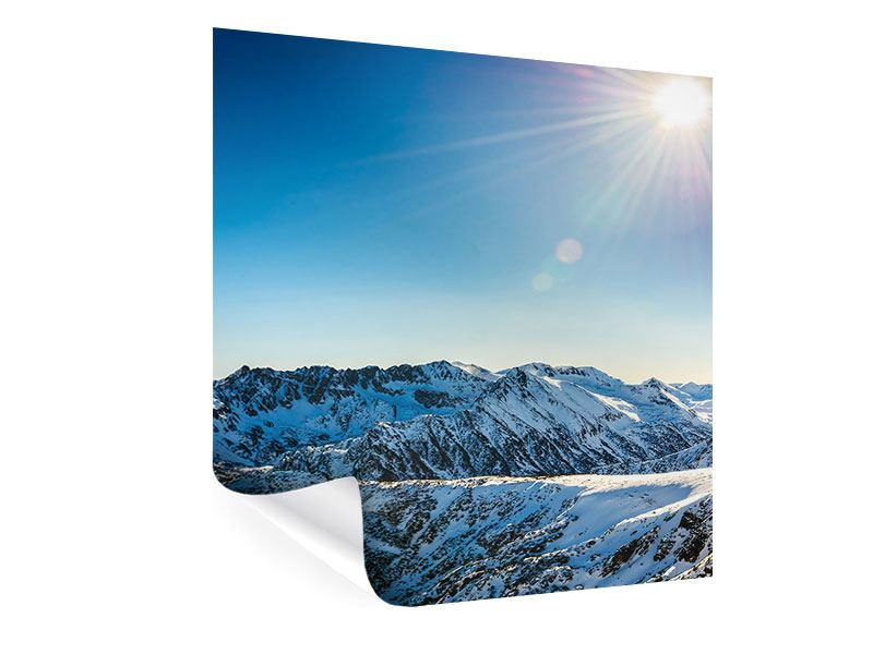 Poster Berge im Schnee
