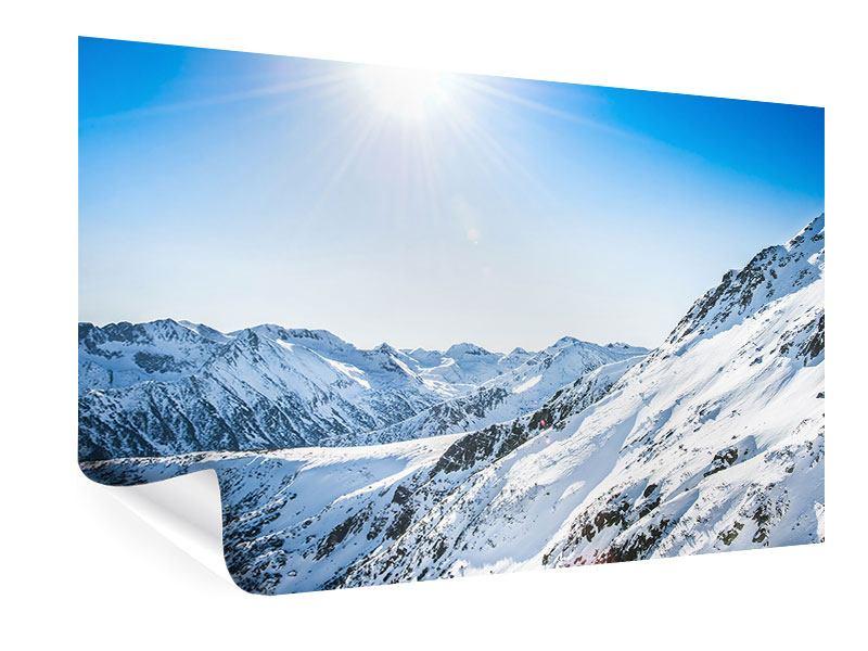 Poster Bergpanorama im Schnee