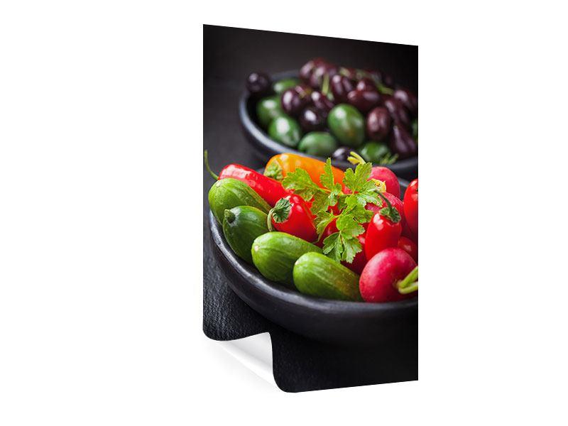 Poster Gemüseschale
