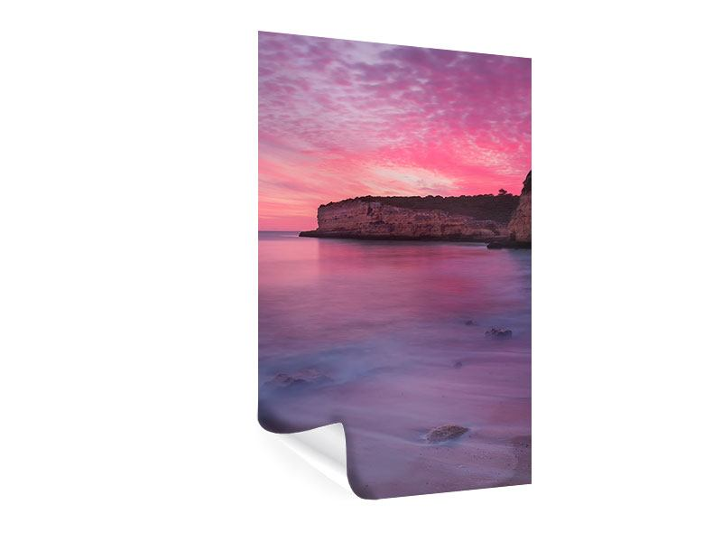 Poster Feuriger Sonnenuntergang am Meer