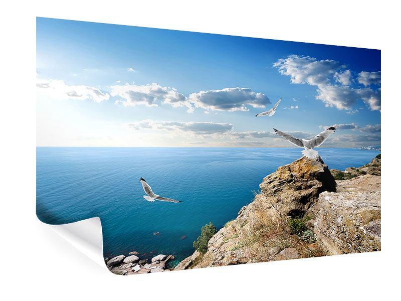 Poster Die Möwen und das Meer