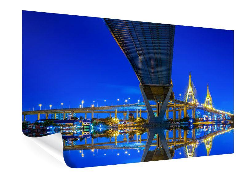 Poster Bhumiboll-Brücke
