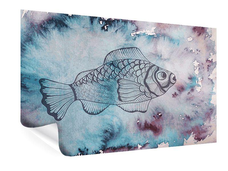 Poster Fisch-Aquarell