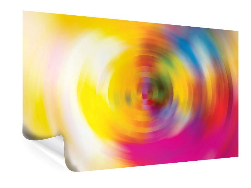 Poster Abstrakte Farbkreise