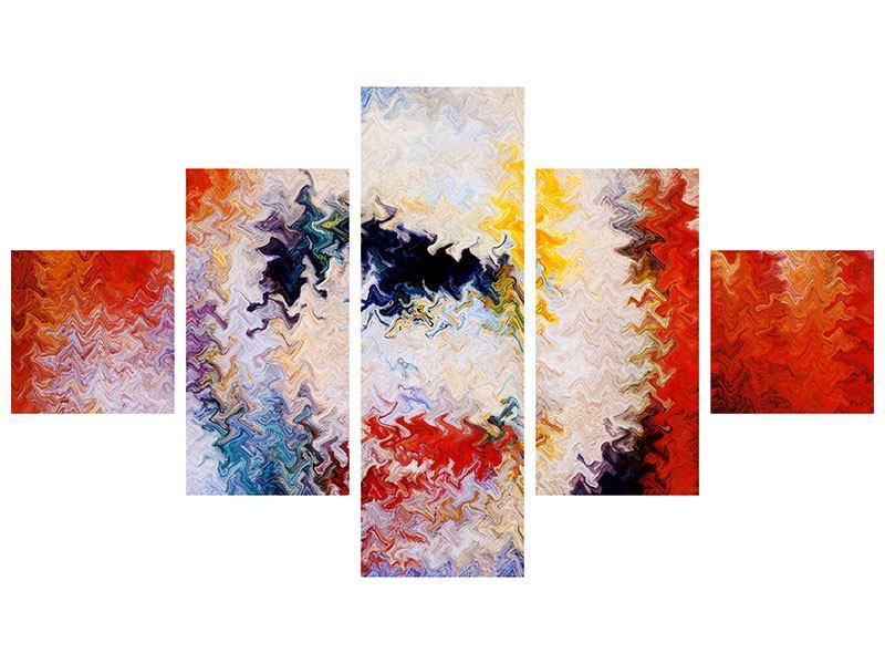 Poster 5-teilig Wandmalerei