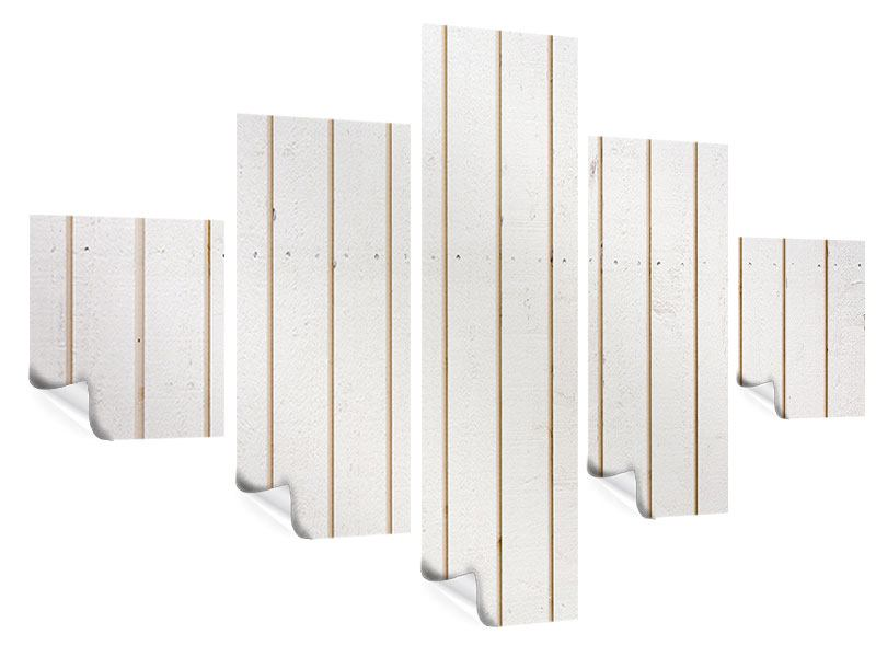 Poster 5-teilig Mediterranes Holz