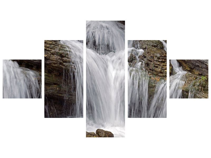 Poster 5-teilig Wasserfall XXL