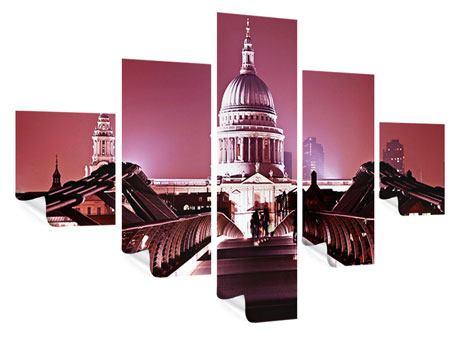 Poster 5-teilig Millennium Bridge