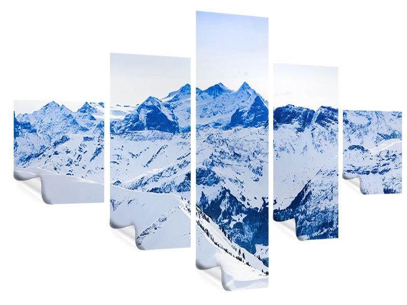 Poster 5-teilig Die Schweizer Alpen