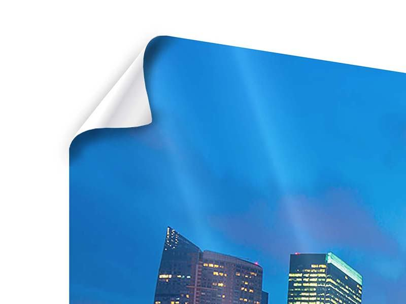 Poster 5-teilig Skyline Singapur im Lichtermeer