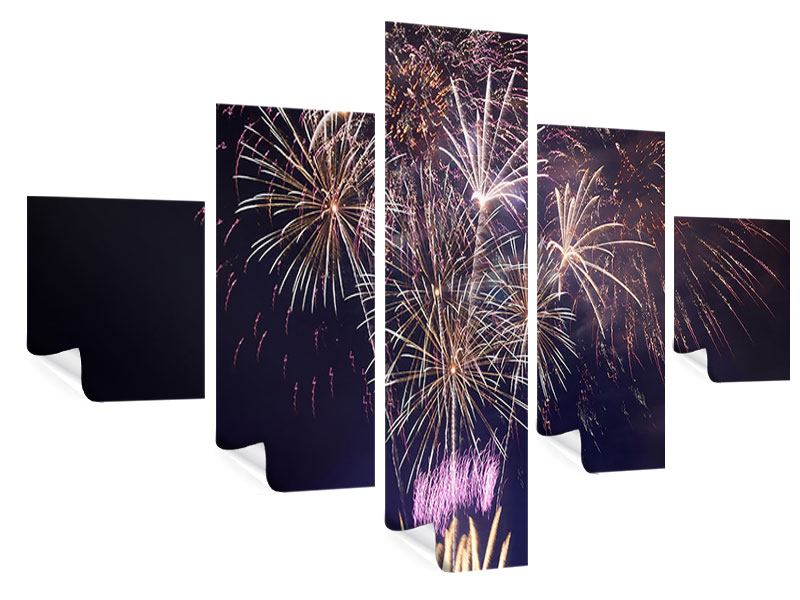 Poster 5-teilig Feuerwerk