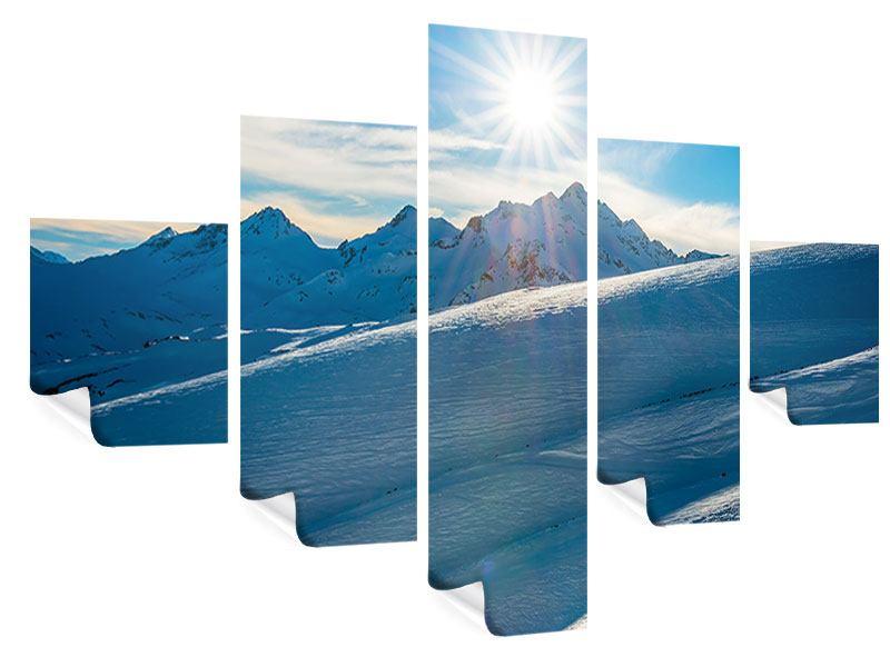 Poster 5-teilig Ein Wintermärchen in den Bergen