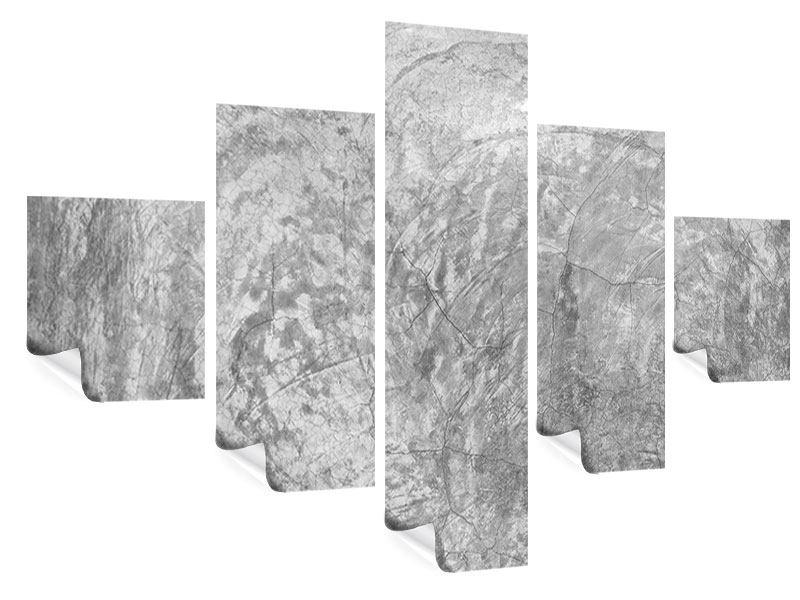 Poster 5-teilig Wischtechnik in Grau