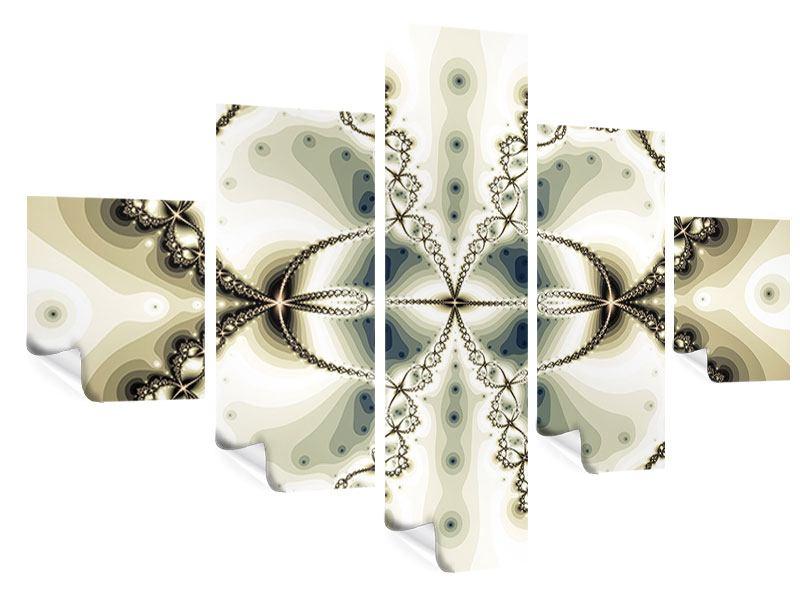 Poster 5-teilig Abstrakter Schmetterling