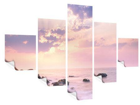 Poster 5-teilig Sonnenaufgang am Meer