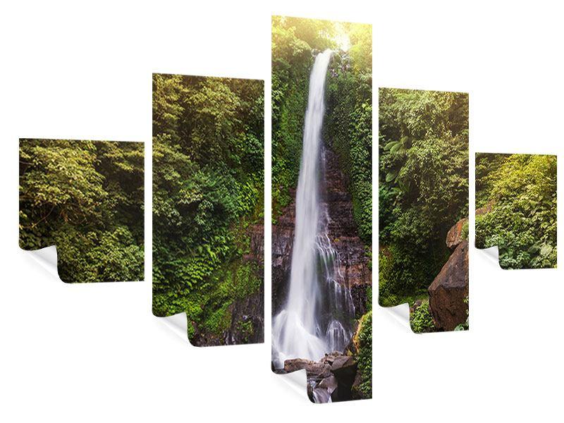 Poster 5-teilig Wasserfall Bali