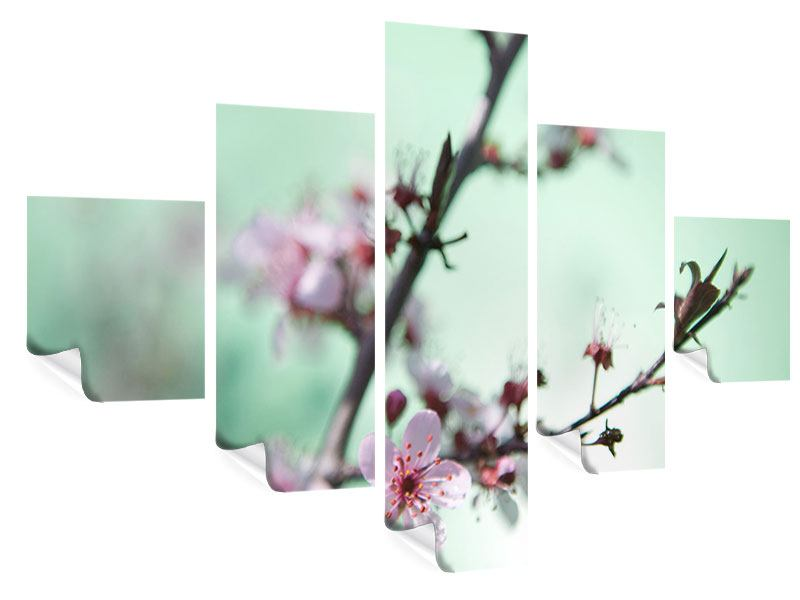 Poster 5-teilig Die japanische Kirschblüte