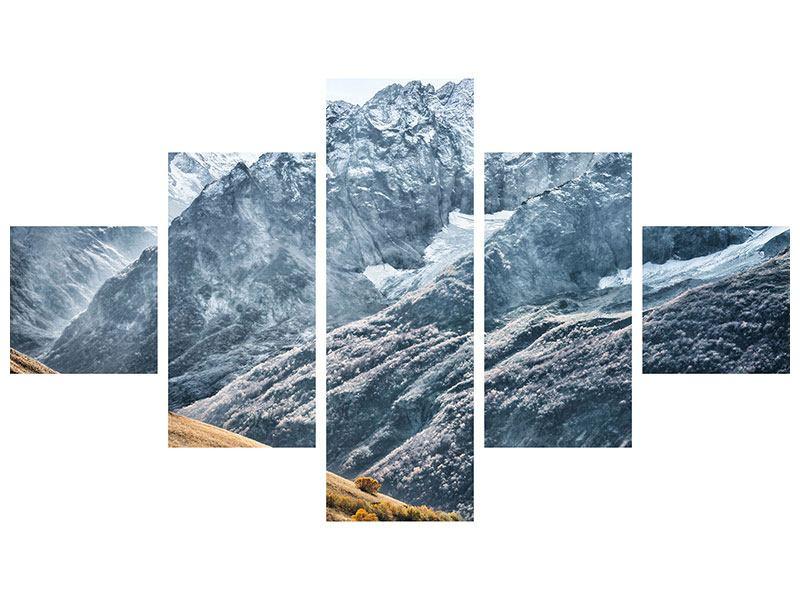 Poster 5-teilig Gigantische Berggipfel