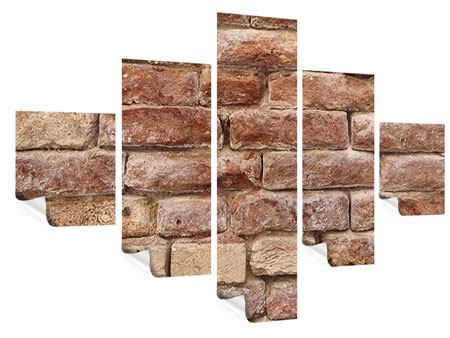 Poster 5-teilig Loft-Mauer