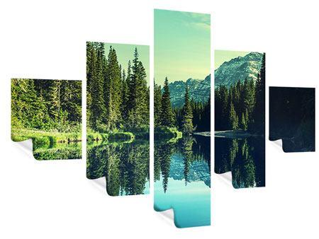 Poster 5-teilig Die Musik der Stille in den Bergen