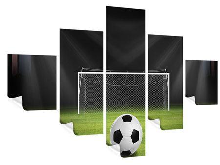 Poster 5-teilig Fussball-Tor