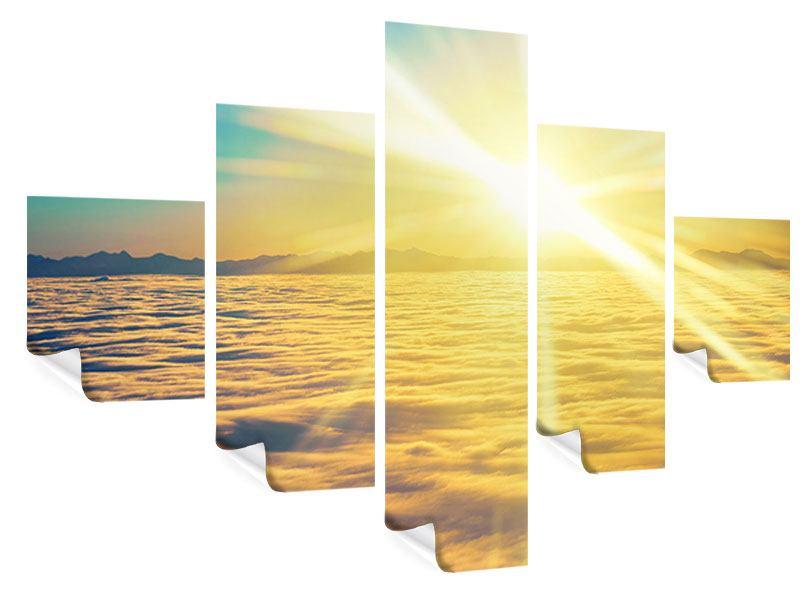 Poster 5-teilig Sonnenuntergang über den Wolken