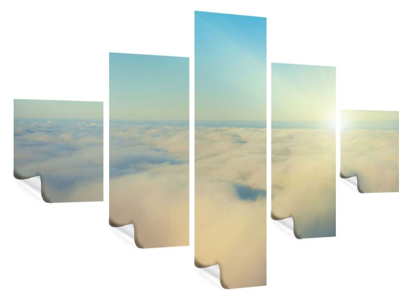 Poster 5-teilig Dämmerung über den Wolken