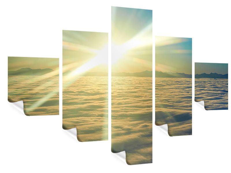 Poster 5-teilig Sonnenaufgang über den Wolken
