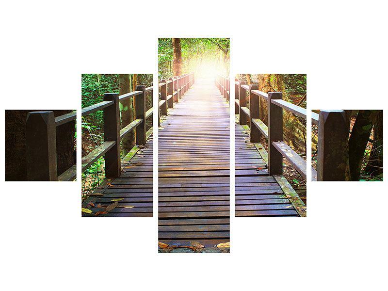Poster 5-teilig Die Brücke im Wald