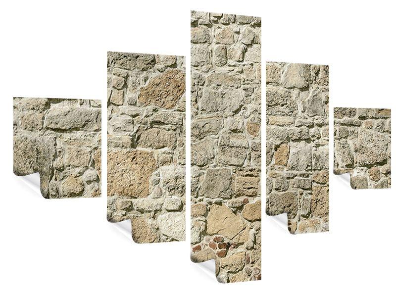 Poster 5-teilig Naturmauer