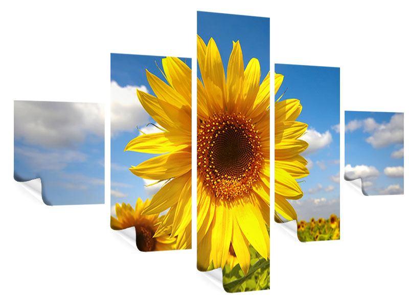 Poster 5-teilig Das Feld der Sonnenblumen