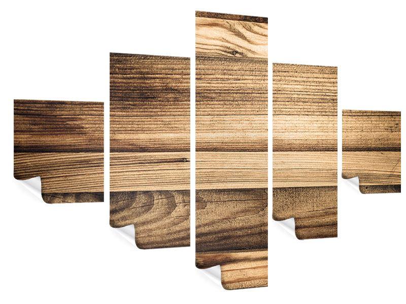 Poster 5-teilig Holztrend