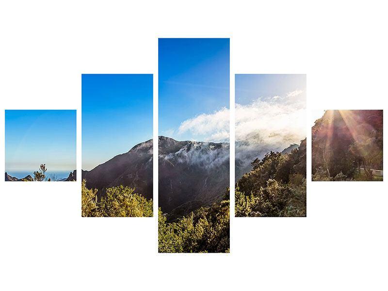 Poster 5-teilig Berge am Meer