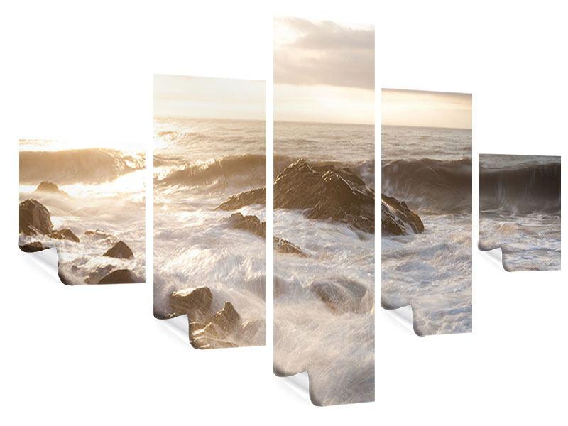 Poster 5-teilig Meeresbrandung