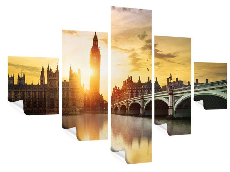 Poster 5-teilig Skyline Big Ben im Sonnenuntergang