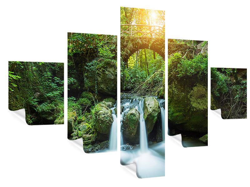 Poster 5-teilig Wasserspiegelungen
