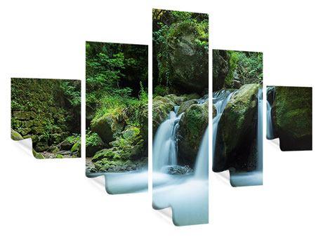 Poster 5-teilig Fallendes Wasser