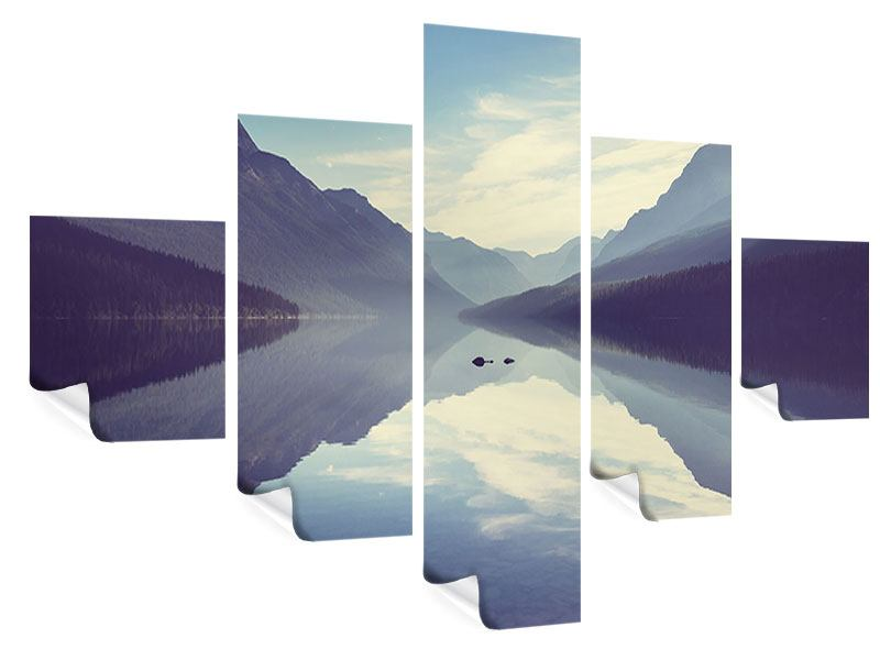 Poster 5-teilig Bergspiegelung