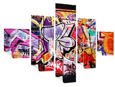 Poster 5-teilig Graffiti Kunst