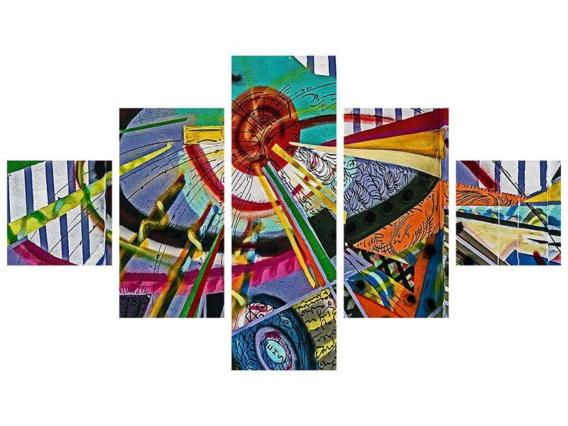 Poster 5-teilig Künstlerisches Graffiti