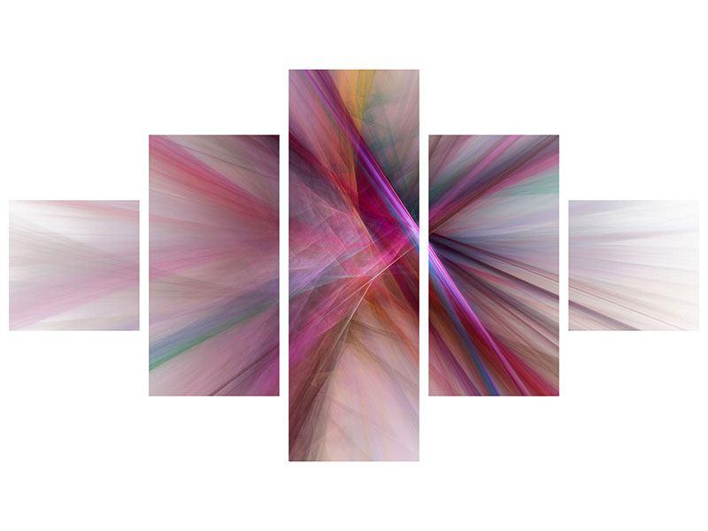 Poster 5-teilig Abstraktes Lichterleuchten
