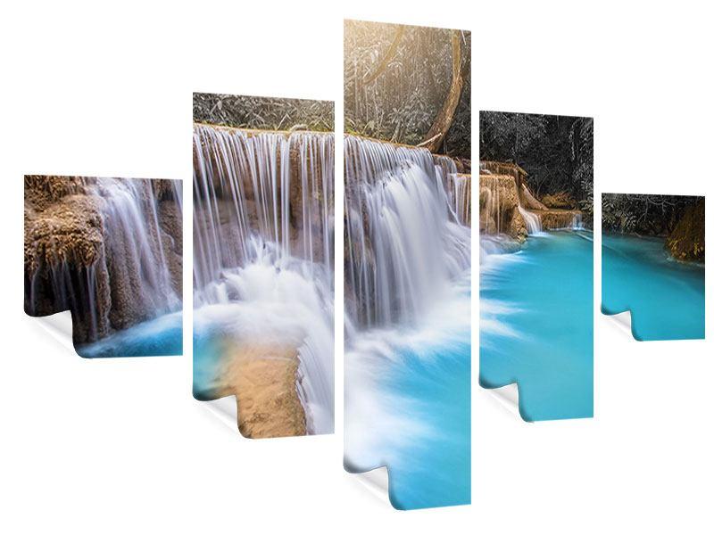 Poster 5-teilig Glücklicher Wasserfall