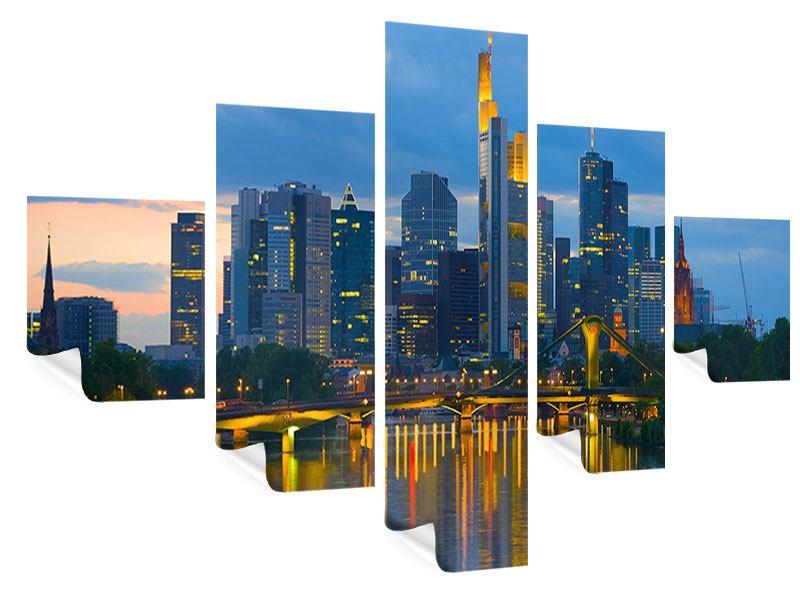 Poster 5-teilig Skyline Frankfurt am Main
