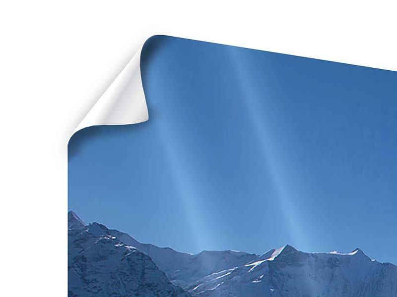 Poster 5-teilig Sonnenterrasse in den Schweizer Alpen