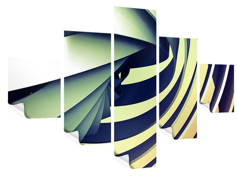 Poster 5-teilig Abstrakte Perspektiven